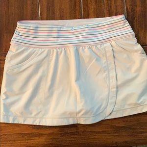 Zella (Nordstrom's brand) faux wrap white skort